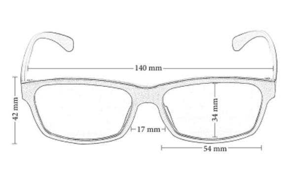 blaulichtfilter brille alltag maße frontansicht